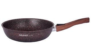"""Сковорода со съемной ручкой 240 мм, """"Granit ultra"""" (red)"""