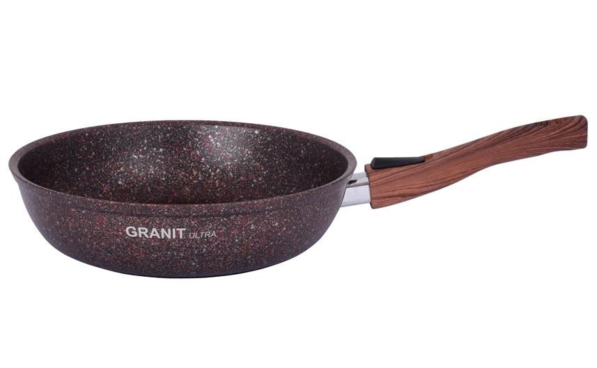 """Сковорода со съемной ручкой 280 мм, """"Granit ultra"""" (red)"""