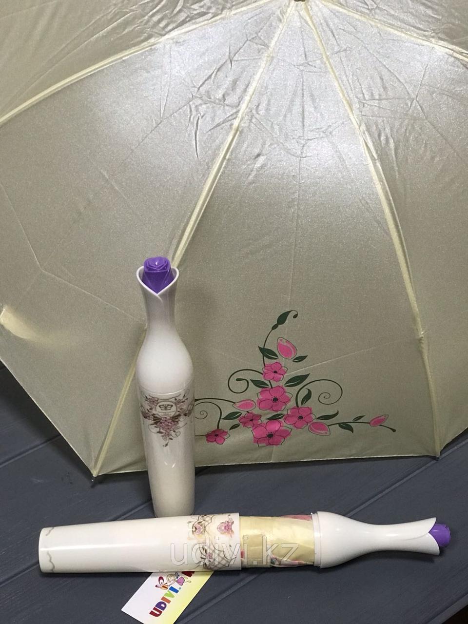 """Зонт """"Роза в вазе."""" на 8 марта"""