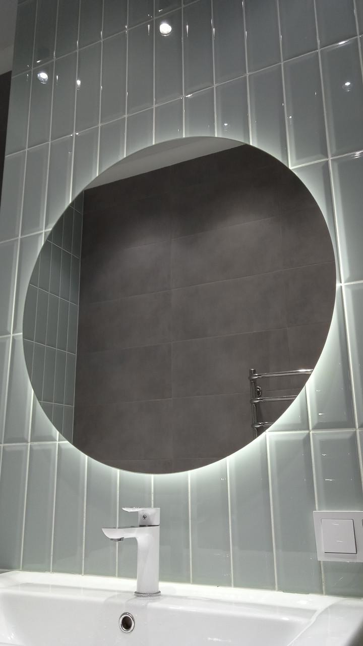 "Зеркало с LED подсветкой ""парящее"", d=800мм new"