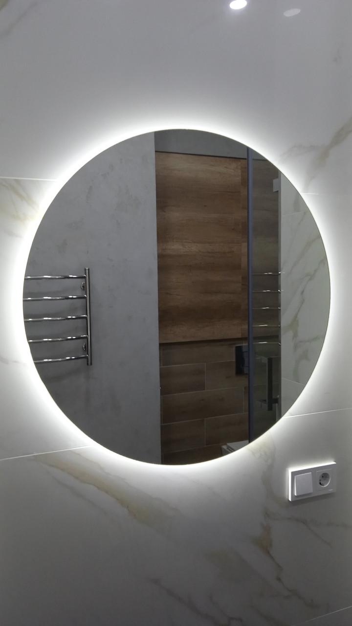 Зеркало с LED подсветкой «парящее», d=800мм new