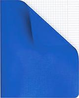 Тетрадь 48л кож.синяя обложка