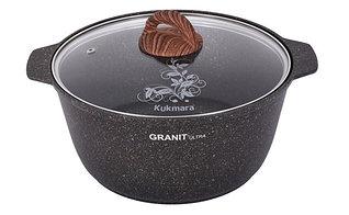 """Кастрюля-жаровня 5 литров со стеклянной крышкой, """"Granit ultra"""""""