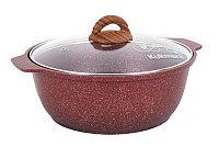 """Кастрюля-жаровня 4 литра со стеклянной крышкой, """"Granit ultra"""" (red), фото 1"""