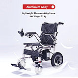Инвалидная коляска, Gentle 120T-1, с электроприводом 24v 500w (2*250w).аккум. Li-ion 24v 10A/H.Вес 23 кг, фото 2