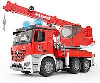 Пожарная машина - автокран MB Arocs (Bruder, Германия)