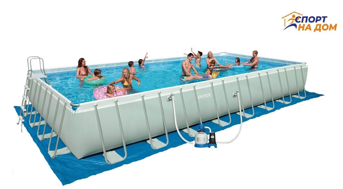 Каркасный бассейн Intex 26378 (габариты:975*488*132 см, на 54368 л)