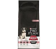 Pro Plan Medium Puppy с лососем и рисом, уп.12 кг.