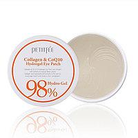 Гидрогелевые патчи для глаз Petitfee 98% Collagen+CoQ10 Hydrogel Eye Patch