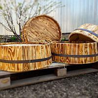 Срез деревянной декоративной бочки H100 * D600 мм.