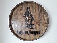 """Срез деревянной декоративной бочки """"Captaine Morgan""""(палисандр) H120 * D 600 мм."""