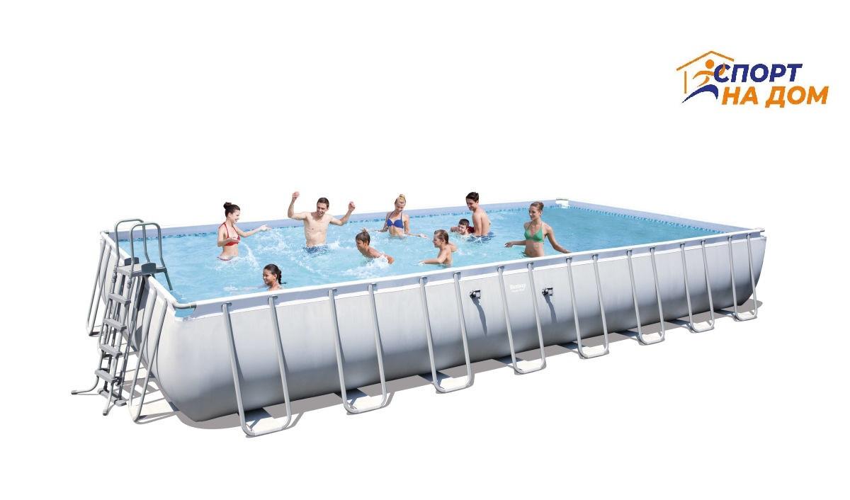 Каркасный бассейн Bestway 56623 (габариты: 956*488*132 см, на 52231 л)