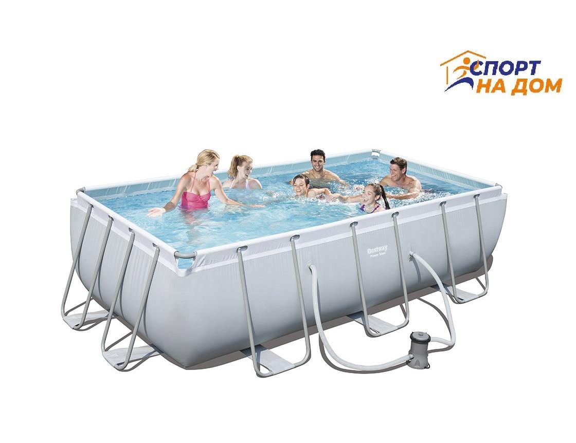 Большой каркасный бассейн Bestway 56251 (габариты: 404*201*100 см, на 4531 л)