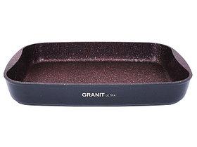 """Противень 400х295х50, каменное антипригарное покрытие """"Granit Ultra"""" (red)"""