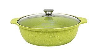 """Кастрюля-жаровня 3 литра со стеклянной крышкой, """"Trendy style"""" (lime)"""