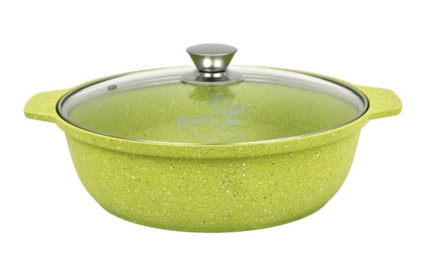 """Кастрюля-жаровня 4 литра со стеклянной крышкой, """"Trendy style"""" (lime)"""