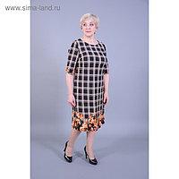 Платье женское, размер 56, цвет чёрный