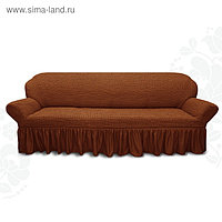 Чехол для мягкой мебели диван 3-х местный 6057, трикотаж, 100% п/э