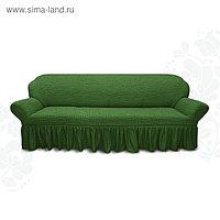 Чехол для мягкой мебели диван 3-х местный 6016, трикотаж, 100% п/э