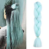 Канекалон накладные волосы одноцветные 60 см мятный A25