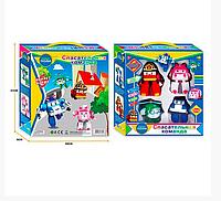 """Игровой набор Спасательная команда """"Робокар Поли"""", """"Robocar POLI"""", 4 в 1, роботы-трансформеры."""