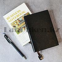 Блокнот в клетку 116 листов формат 72k 10см х 14,3см Business notebook QD-1006-72k маленький черный
