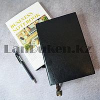Блокнот в клетку 116 листов формат 25k 14.5см х 21см Business notebook QD-1006-25k средний черный
