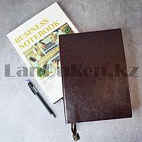 Блокнот в клетку 116 листов формат 16k 18см х 25см Business notebook QD-1006-16k большой коричневый