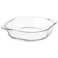 Форма для духовки из жаропрочного стекла IKEA ФОЛЬСАМ, 24.5 x 24.5см
