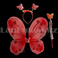 Набор феи крылья и волшебная палочка (красный)