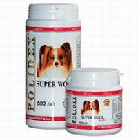 POLIDEX Super Wool plus, Полидекс, мультивитамины для шерсти и яркости окраса, уп. 150 табл.