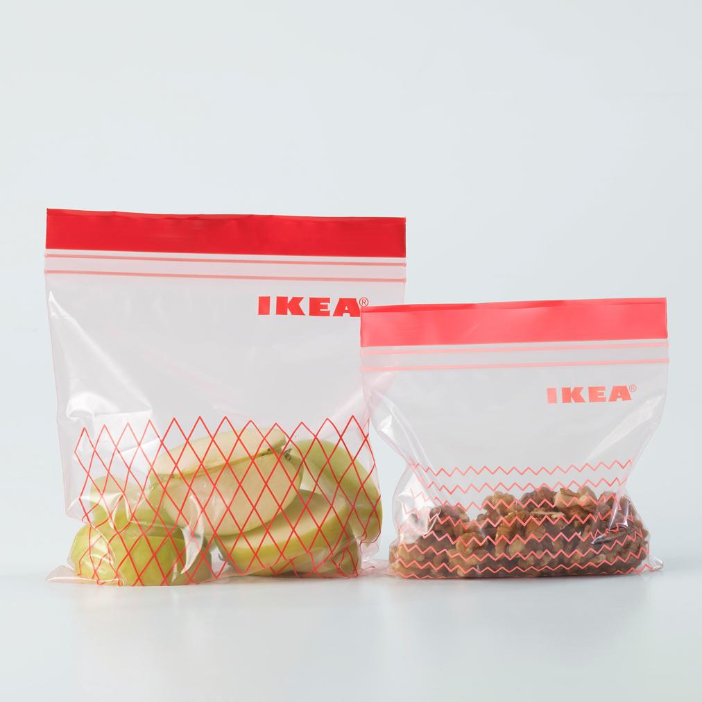 Пакеты для хранения продуктов с застежкой zip-lock IKEA ИСТАД красный, 60шт - фото 2