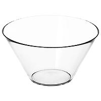 Сервировочная миска из прозрачного стекла IKEA ТРЮГГ, 28см