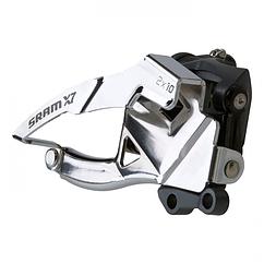 Sram  передний переключатель  X-7 2x10 High Clamp 31.8/34.9 Dual Pull