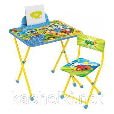 НИКА Набор мебели стол+стол МиМиМишки c игрой от 3 до 7 лет