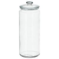 Банка с крышкой из прозрачного стекла IKEA ВАРДАГЕН, 1.8л