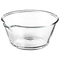 Сервировочная миска из прозрачного стекла IKEA ВАРДАГЕН, 26см