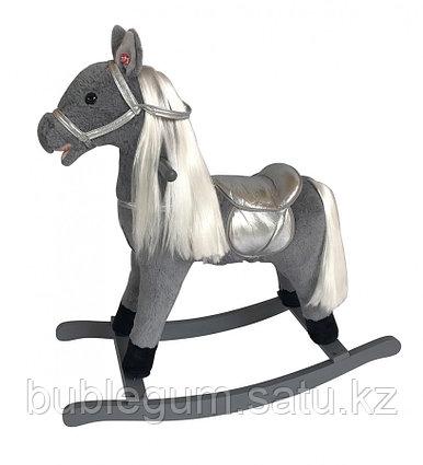 """Качалка-лошадка """"Pituso"""" серая с длинной гривой"""