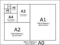 Афиша на стекло в транспорте Формата А3/А2