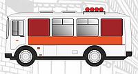 Реклама в транспорте Окно (левый борт) 1150х950 мм