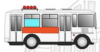 Реклама в транспорте Правый борт 2500х420 мм
