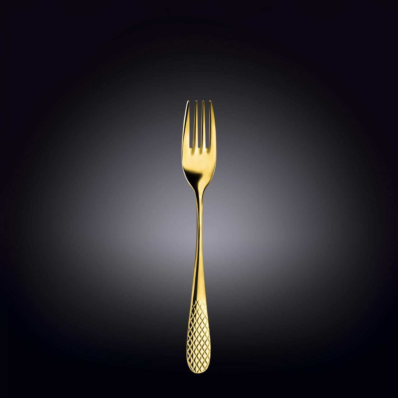 Вилка обеденная Wilmax «Julia Gold» 20 см 2 шт