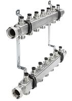 Коллектор TECE из нержавеющей стали для систем отопления без индикатора потока и без запорных вентилей