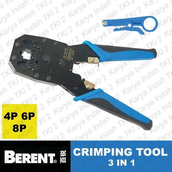Обжимной инструмент BERENT BT1503 для телефонного и сетевого кабеля.