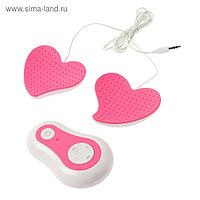 Массажёр для груди LuazON LEM-15, 10 режимов, 3хААА (не в комплекте), бело-розовый