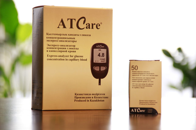 Тест-полоски для определения концентрации глюкозы в капиллярной крови AT Care. №50, фото 2