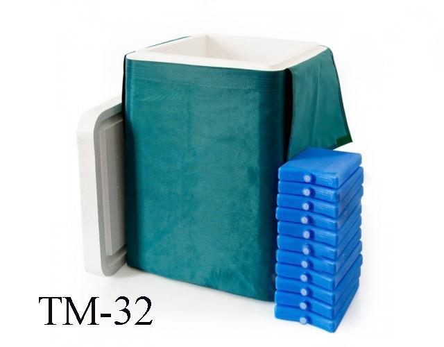 Термоконтейнер ТМ-32 (В комплекте 11 хладоэлементов)