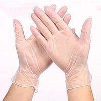 Перчатки виниловые, не стерильные, не опудренные №100