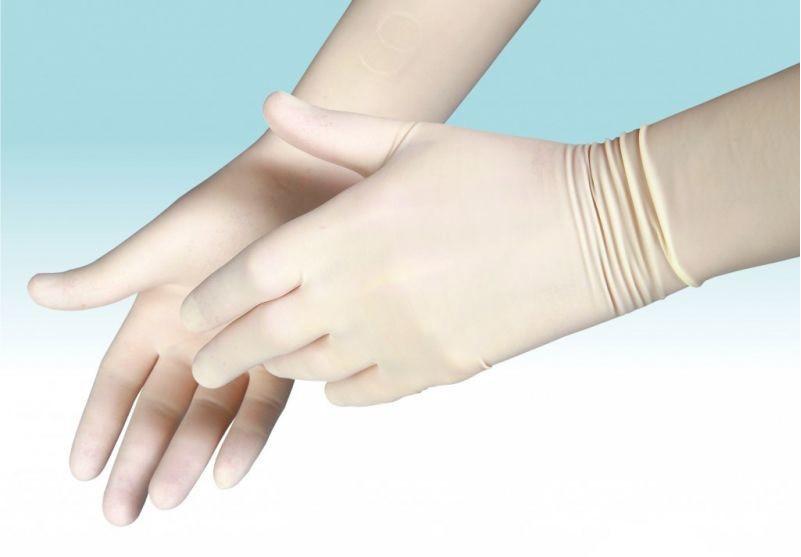 Перчатки стерильные хирургические с длинной манжетой