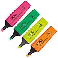 Набор текстовыделителей 1-5 мм, 4 цвета